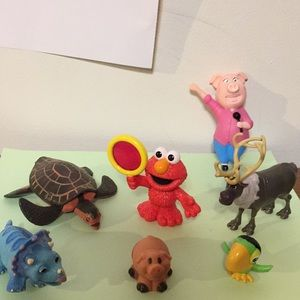 Assortment of toys, seven, as shown in photos